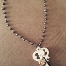 White Key Necklace
