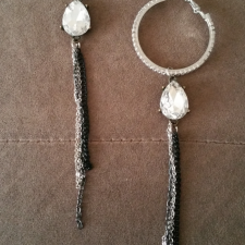 Rhinestone & Tears Hoops