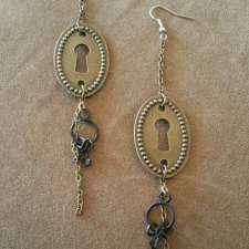 Brass Keyhole Earrings